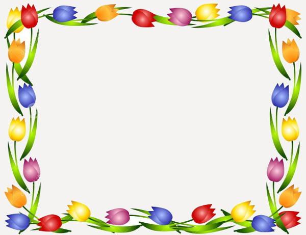 Floral Border Clip Art