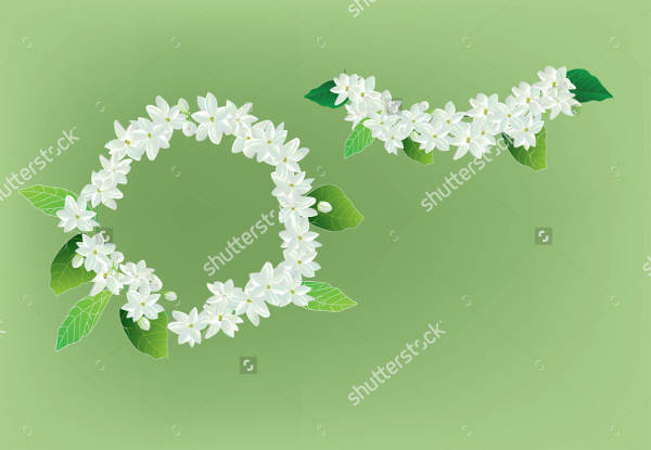 Floral Crown Vector