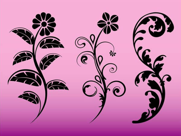 Floral Graphic Silhouette