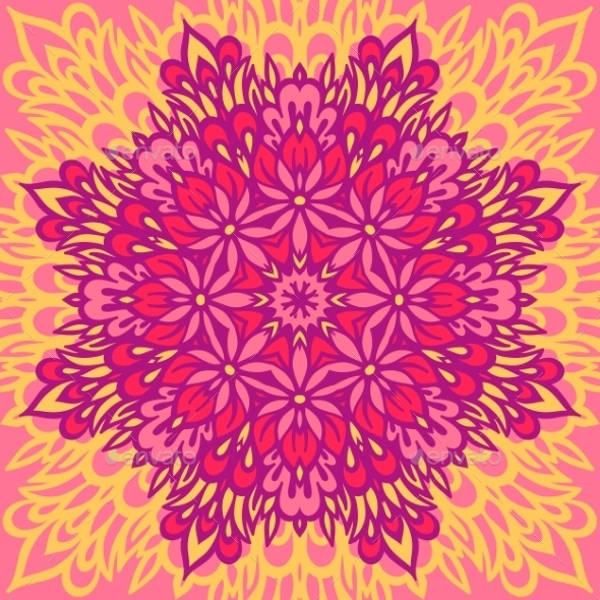 Floral Mandala Design
