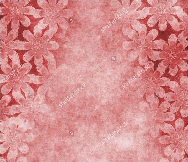 Floral Parchment Background Texture