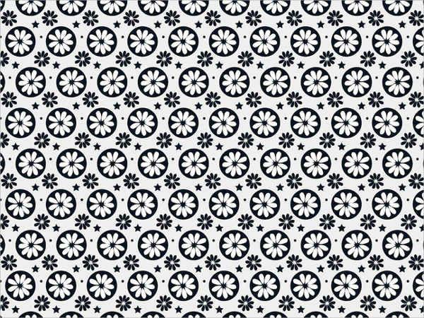 Flower Silhouette Pattern