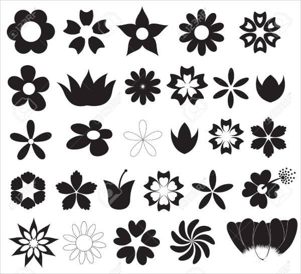 Flower Vector Silhouette