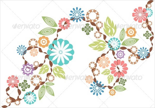 Flower with Leaf Vector