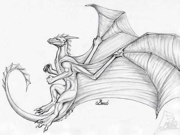 Flying Dragon Drawing