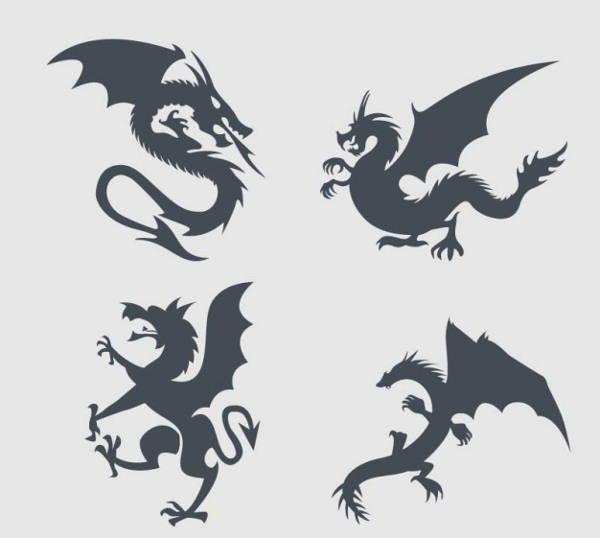 flying dragon silhouette