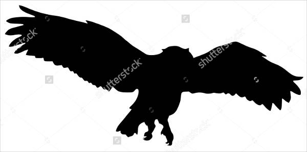 Flying Owl Silhouette