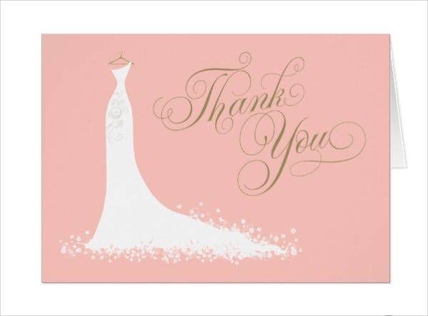 Folded Bridal Shower Thank You Card