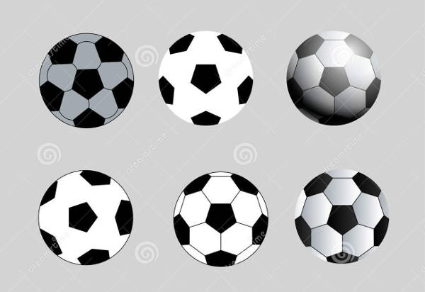 Football Black and White Vector
