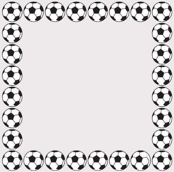 Football Border Clipart