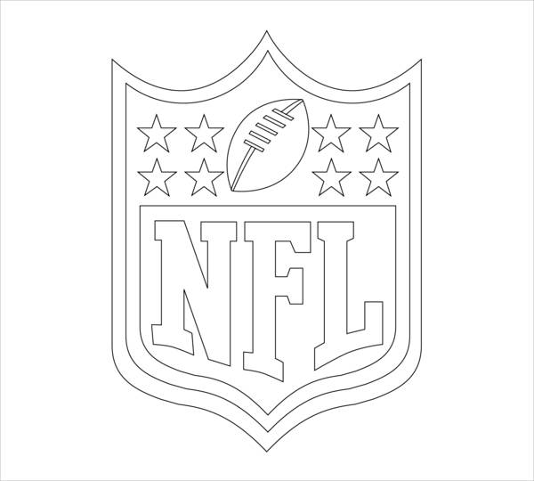 football emblem coloring page