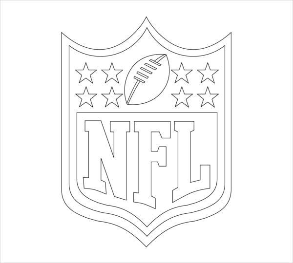 Football Emblem Coloring Page