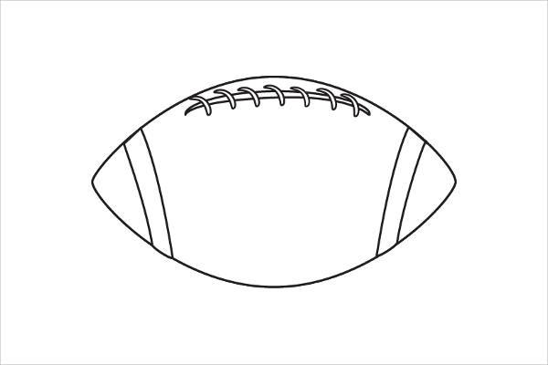 Football Outline Clip Art