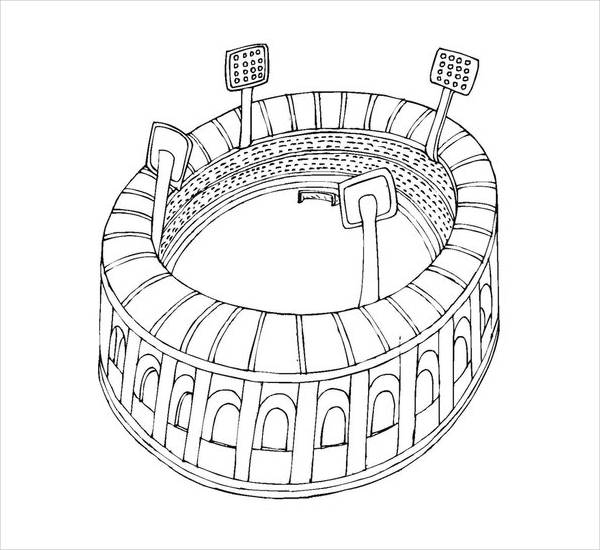 football stadium coloring page