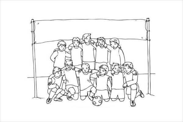 football team coloring page