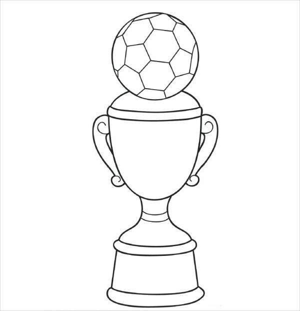 football trophy coloring page
