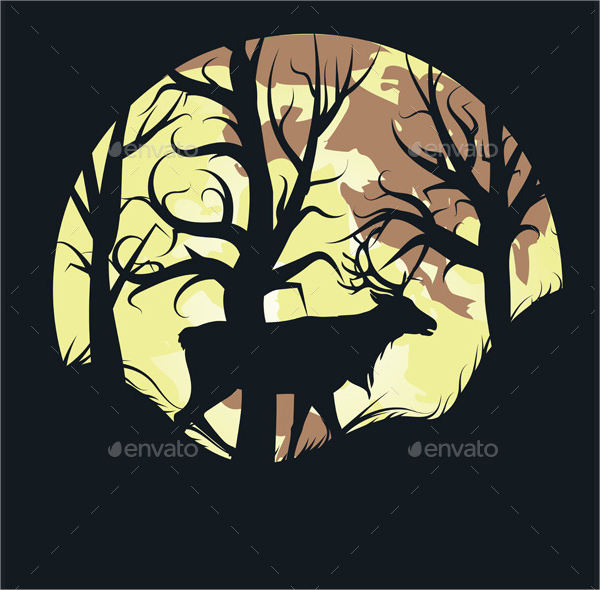 Forest Animal Silhouette