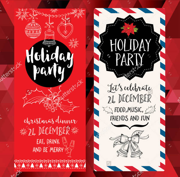 Formal Holiday Party Invitation Banners