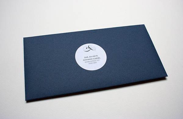 Formal Letterpress Wedding Invitation