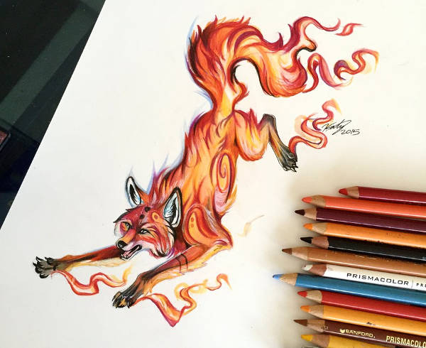 Fox Fire Tattoo