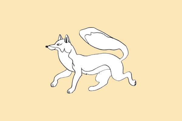 fox outline clipart1