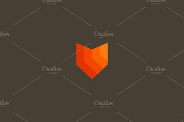 Fox Outline Logo Design