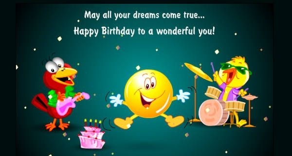 free animated birthday cards  editable psd, ai, vector eps, Birthday card