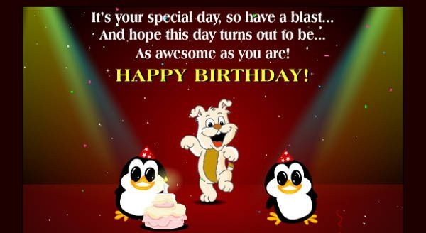 Free Animated Cartoon Birthday Card