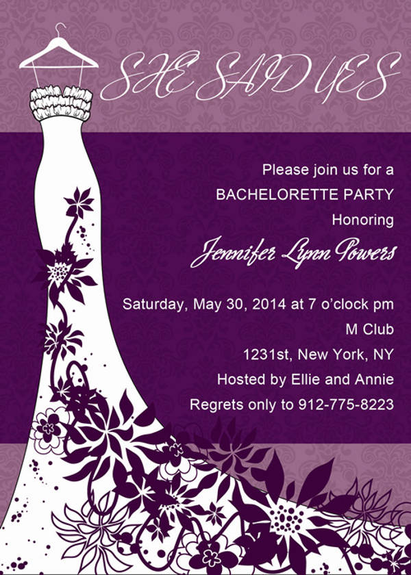 Free Bachelorette Party Email Invitation