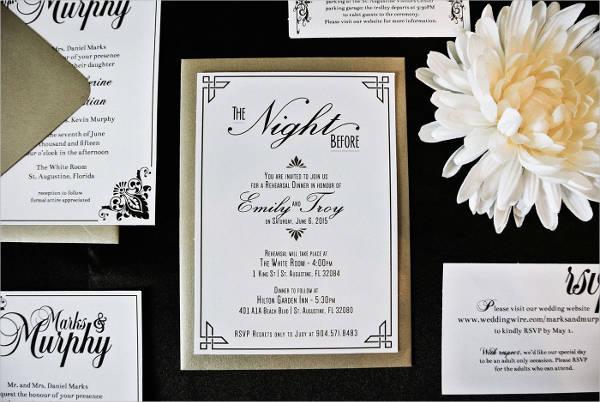Free Black and White Wedding Invitation