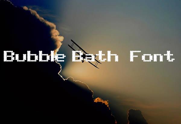 Free Bubble Bath Letters Font