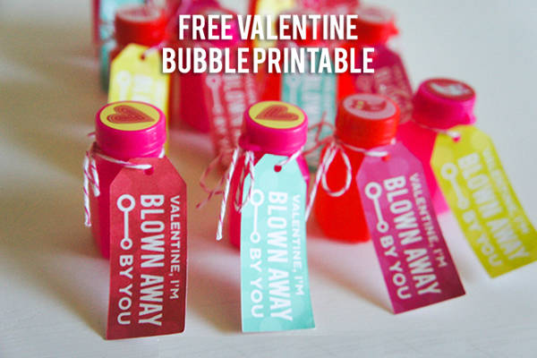 Free Bubble Valentine Printable