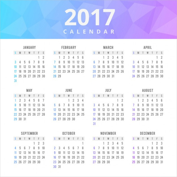 free business calendar