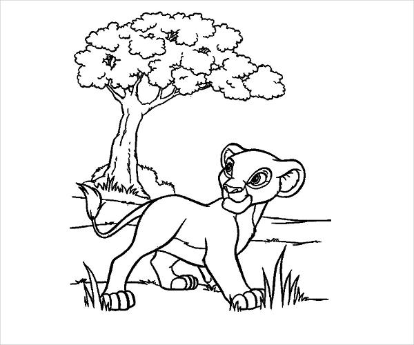 Free Cartoon Coloring Page