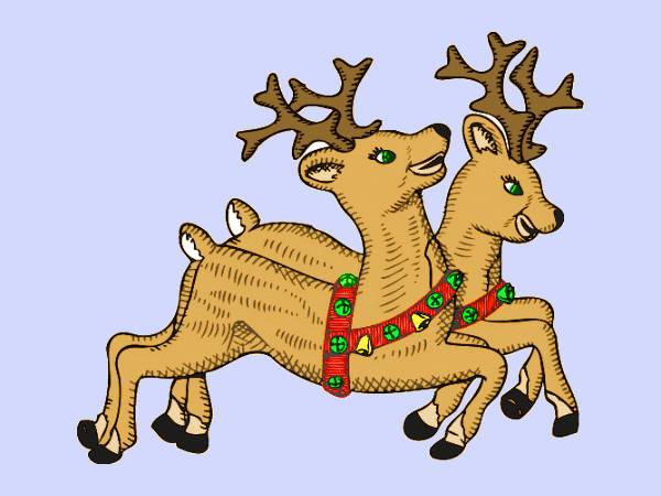 Free Christmas Reindeer Clip Art