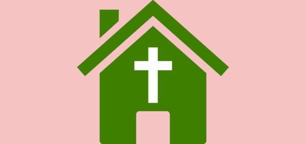Free Church House Clipart