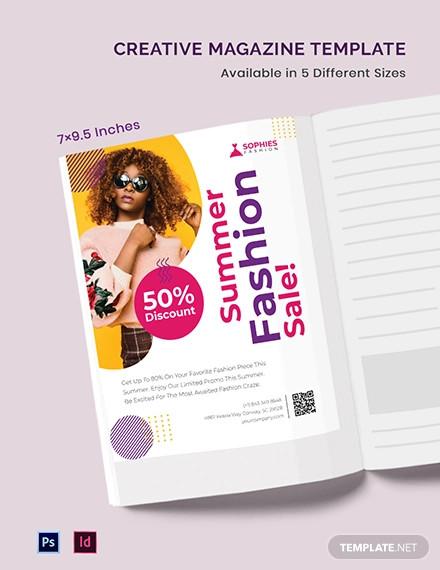 free creative magazine ad template