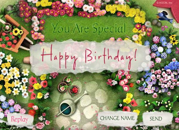 Free Customized Animated Birthday Card