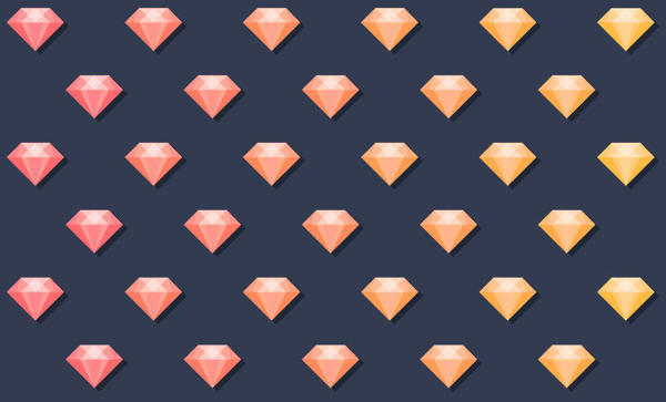 Free Diamond Pattern