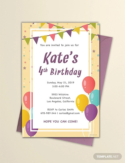 free email birthday invitation template