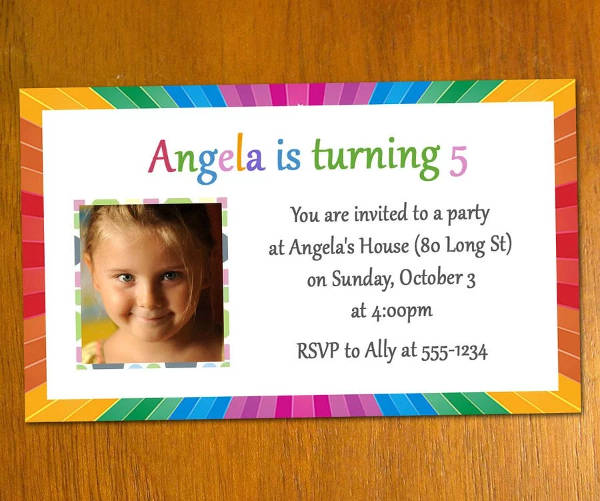 Free Email Birthday Invitation with Photo