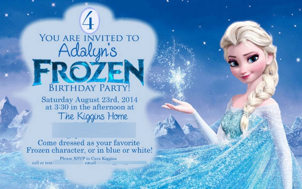 Free Frozen Birthday Printable