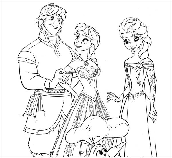 Free Frozen Coloring Printable