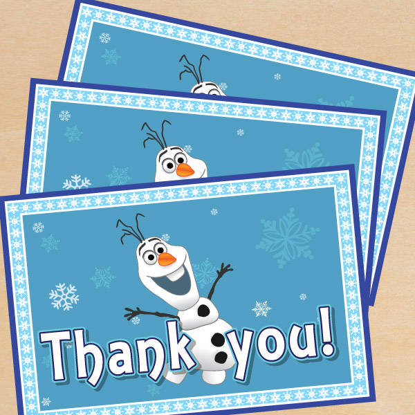 Free Frozen Thank You Printable