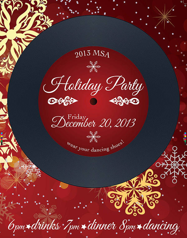 Free Holiday Party Invitation