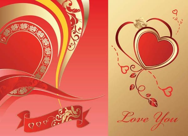 Free Love Card Vector