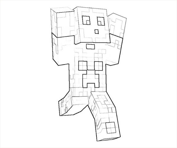 Free Minecraft Coloring Page