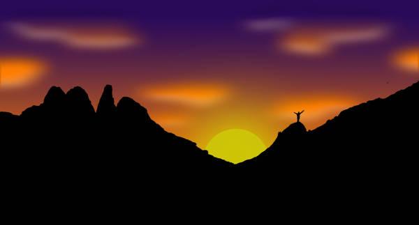 Free Mountain Silhouette