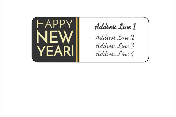 free new year return address label