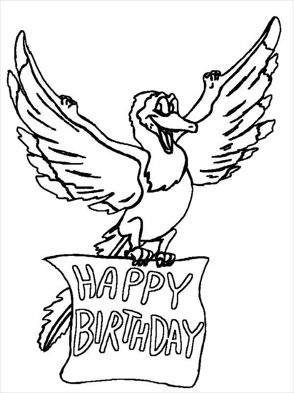 Free Preschool Birthday Coloring Page